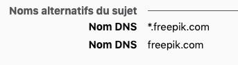 Certificat SSL noms alternatifs