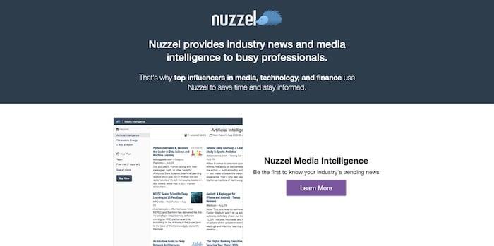 Nuzzel outil curation contenu