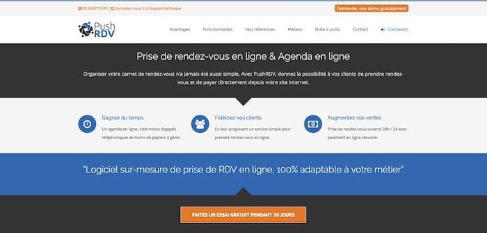 PushRDV logiciel de prise de rendez-vous en ligne