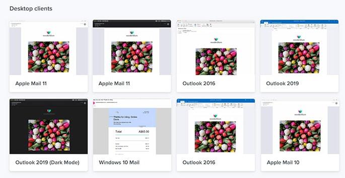 Email rendering clients de messagerie