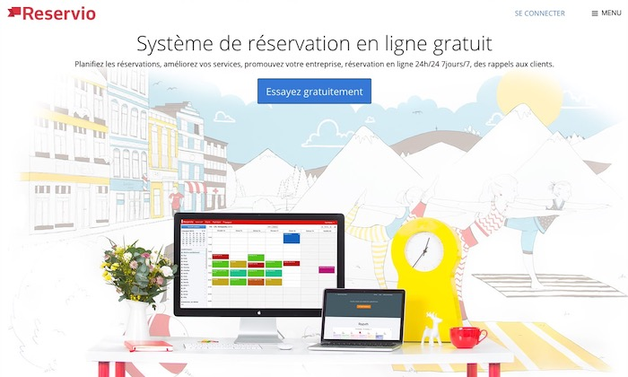 Reservio système de réservation en ligne gratuit