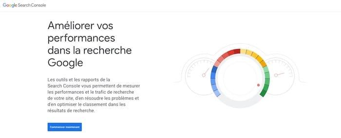 Google Search Console vérification liens