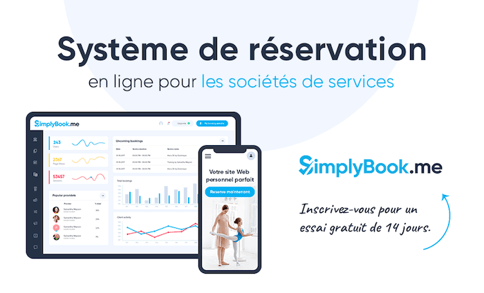 Simplybook.me système de réservation en ligne