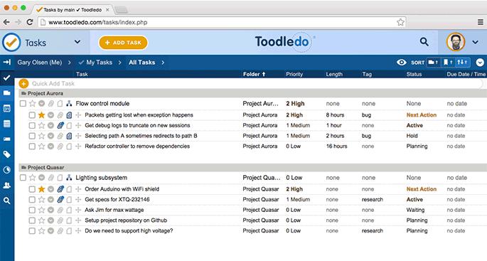 outil to-do list ToodleDo