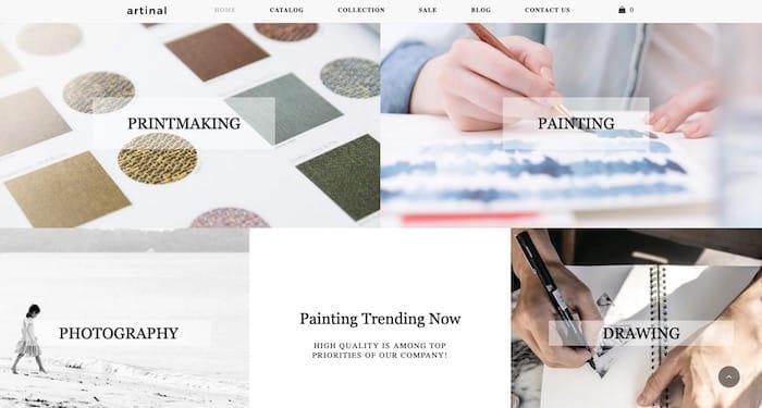tendance webdesign plit content
