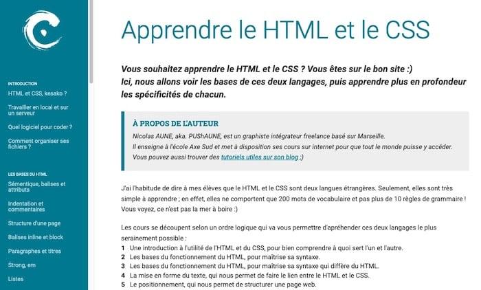 Apprendre le HTML et CSS