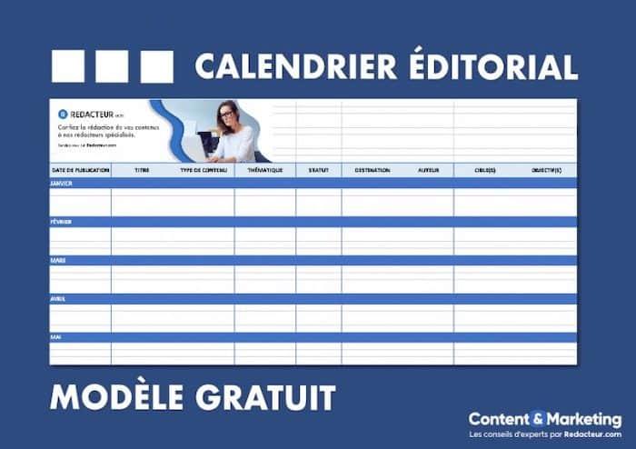 modèle de planning éditorial à télécharger gratuitement
