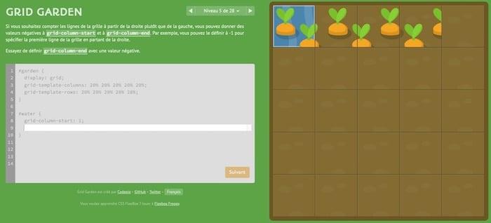 CSS Grid Garden