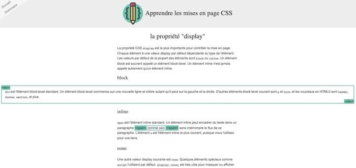Learn Layout apprendre les mises en page CSS