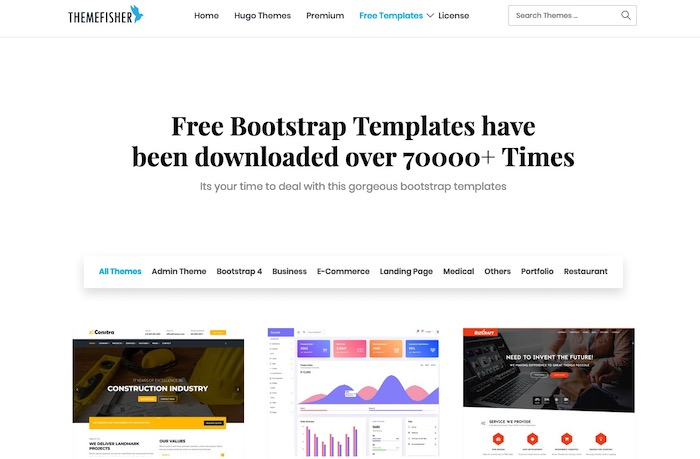 Themefisher, site de templates bootstrap gratuits