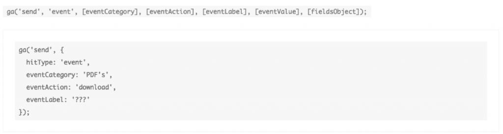 événement Google Analytics tracking téléchargement