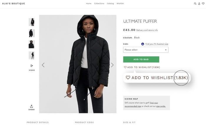 WishList Plus plugin augmenter les conversions Shopify