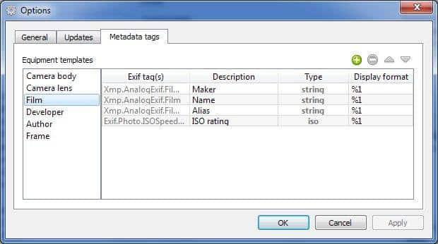 outils d'édition des métadonnées EXIF AnalogExif