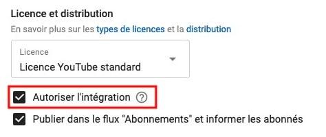 autoriser l'intégration de vidéos Youtube sur les sites