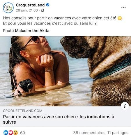 post vacances été facebook