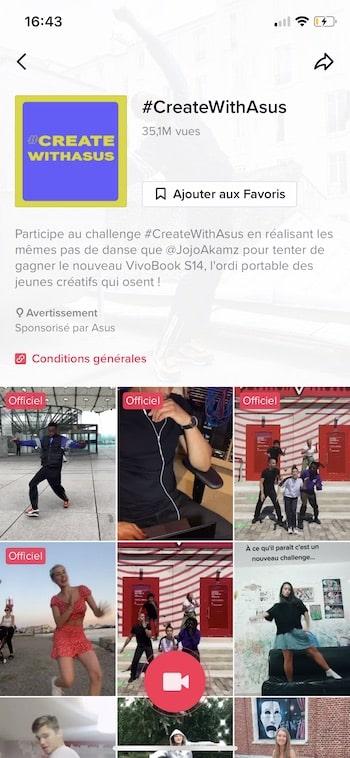 Tiktok Ads hashtag challenge