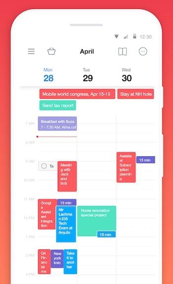 calendrier agenda to do list Any.do