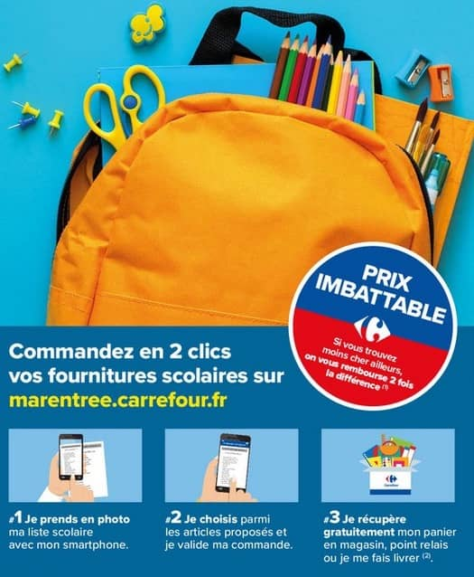 Carrefour rentrée scolaire