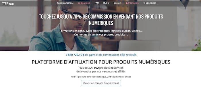 1TPE plateforme d'affiliation marketing