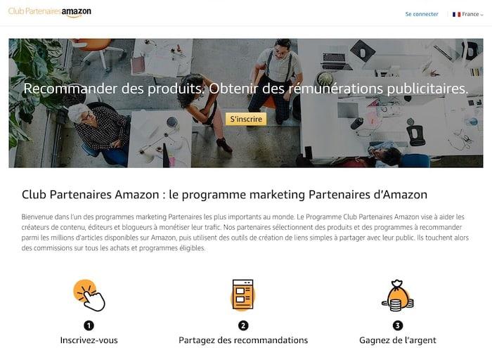 Amazon plateforme d'affiliation marketing