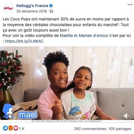 Kellogs marketing influence parents enfants
