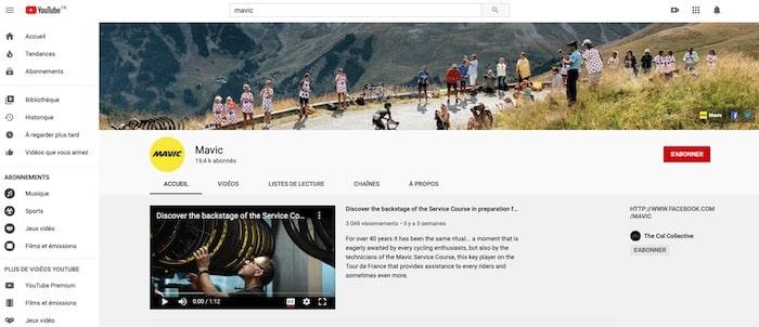 chaîne Youtube Mavic