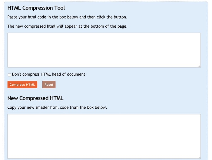 Text Fixer outils de compression de code HTML
