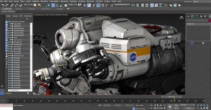 logiciel de modélisation 3Ds Max