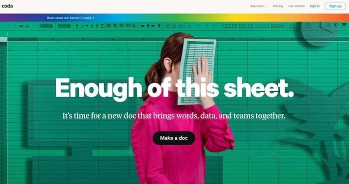 outil de partage de code Coda