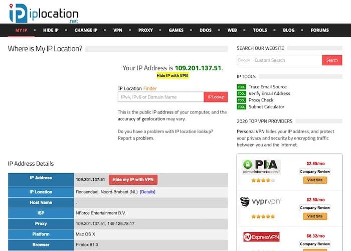 IPLocation site géolocalisation adresse IP