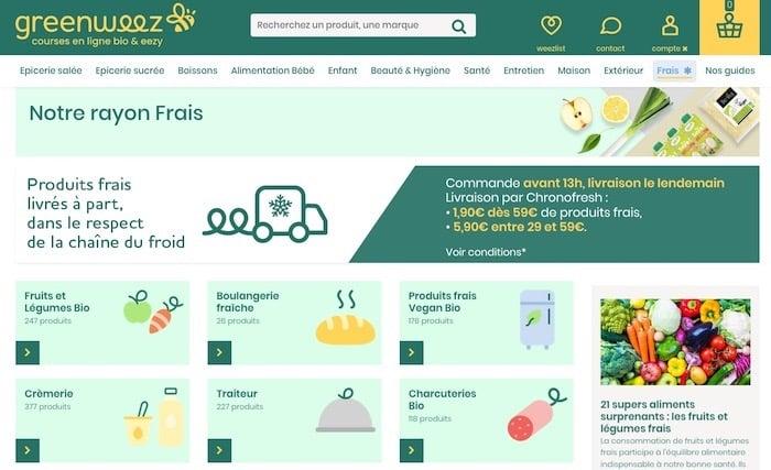 e-commerce alimentaire livraison de produits frais