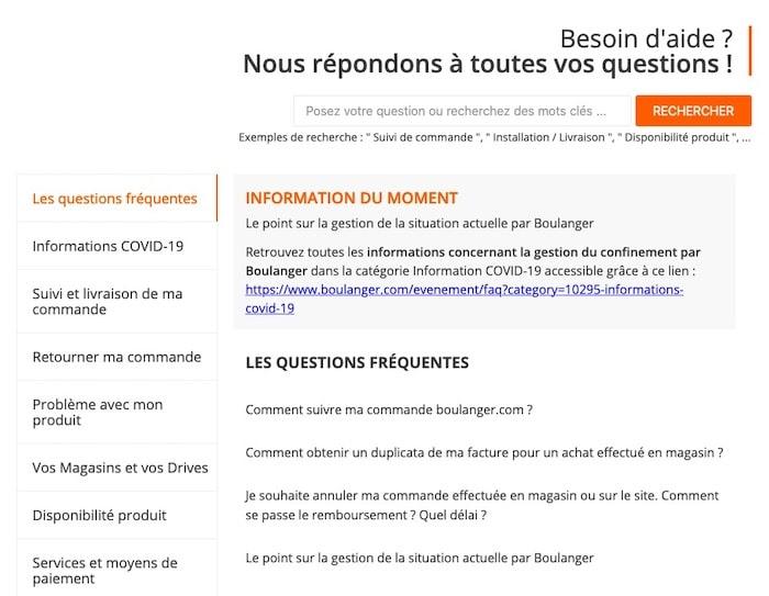 FAQ Boulanger