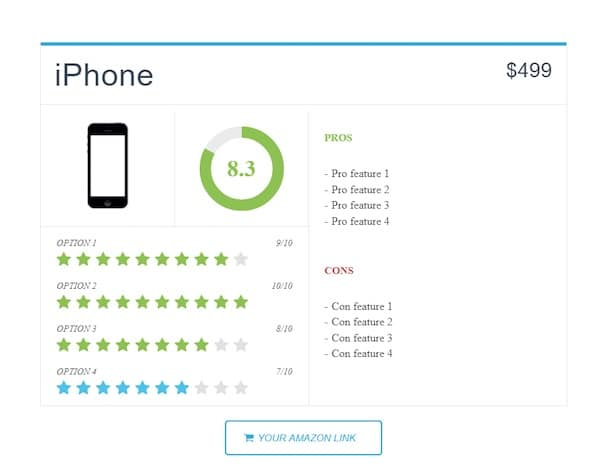 WP Porduct Review Lite plugin de collecte d'avis clients