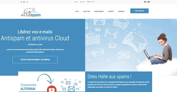 Altospam logiciel anti-spam