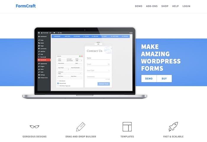 Formcraft plugin WordPress de création de formulaire