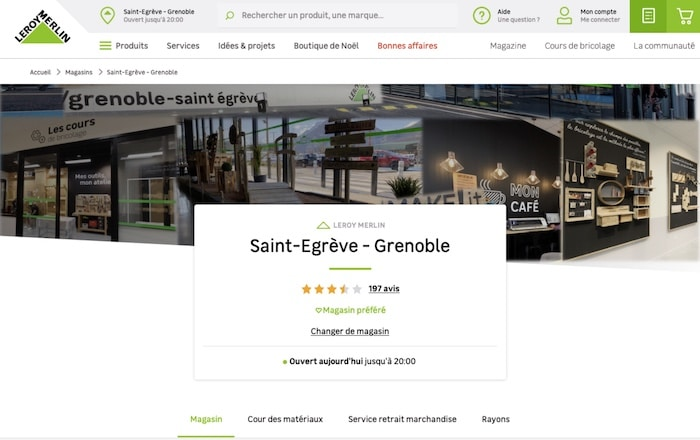 page magasin locale SEO