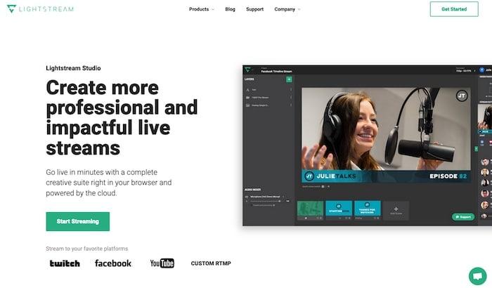 Lightstream logiciel streaming gratuit