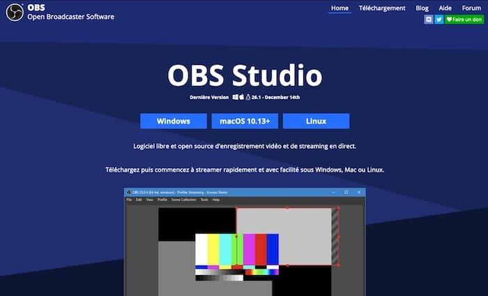 OBS Studio logiciel streaming gratuit