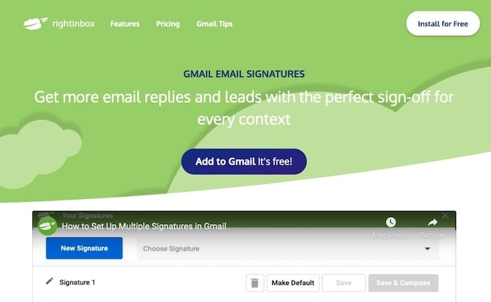 générateur signature Gmail