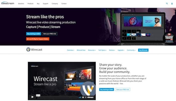 Wirecast logiciel streaming