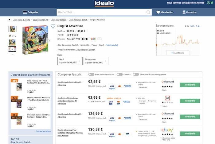 Idaleo comparateur de prix