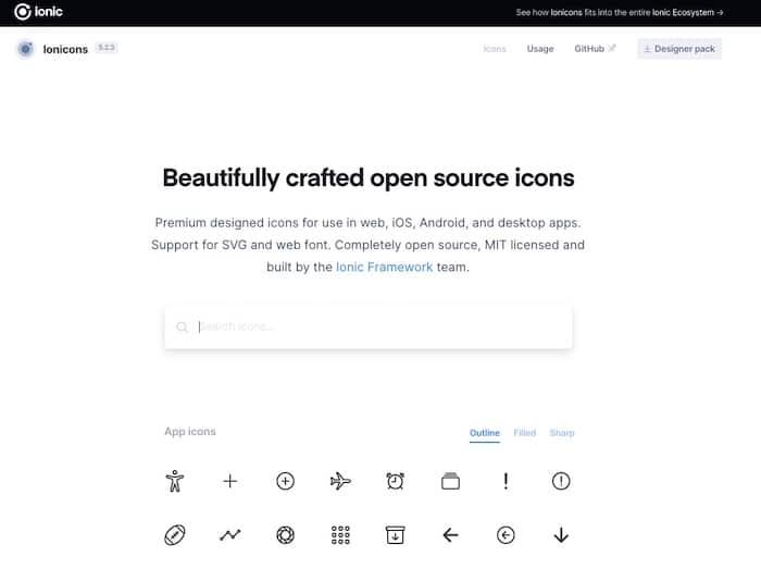 web font icon