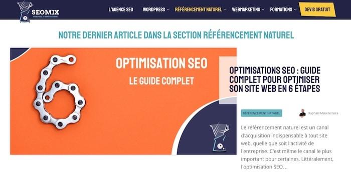 SEOmix blog référencement