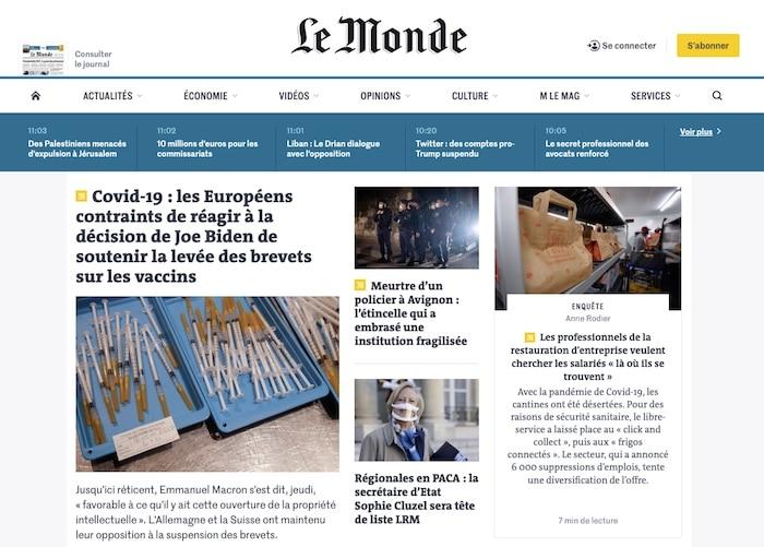 webdesign Le Monde