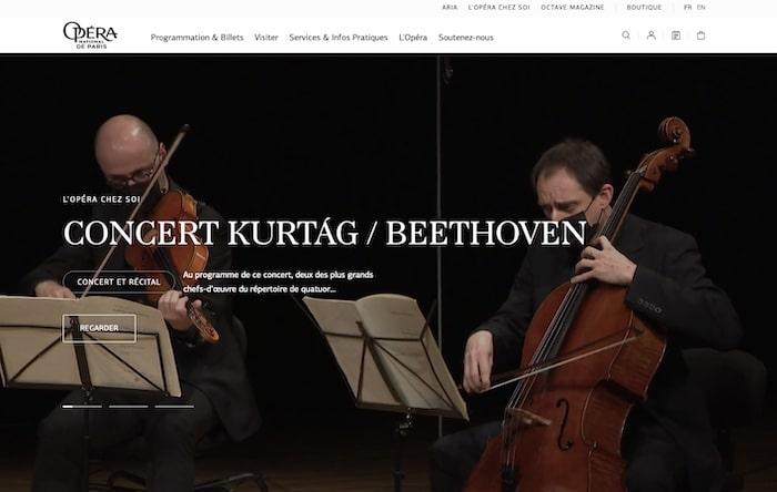 Opéra de Paris webdesign