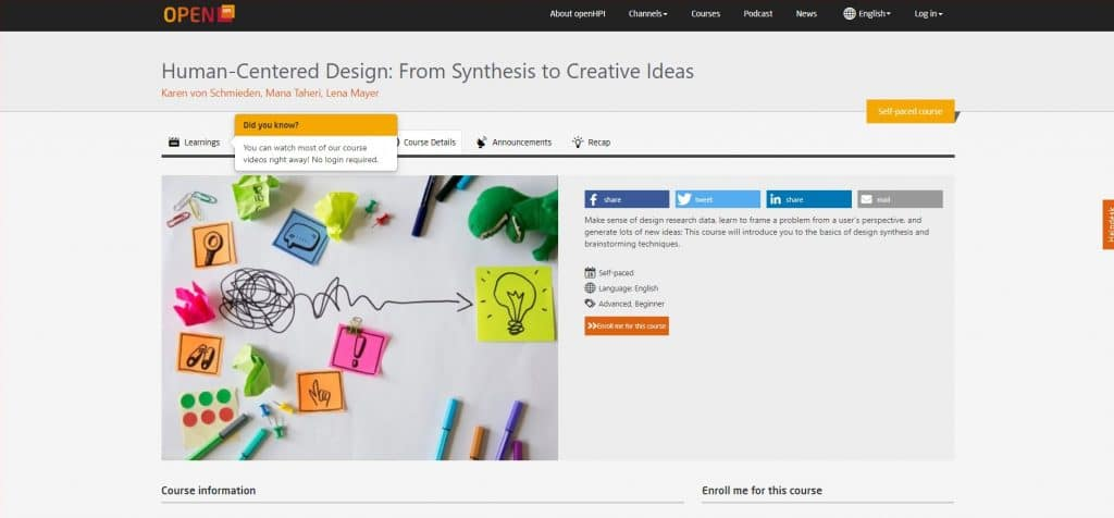 Human-Centered Design: From Synthesis to Creative Ideas par OpenHPI