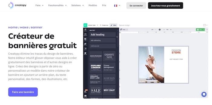 Creatopy logiciel création de bannière en ligne