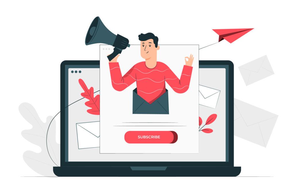 Le formulaire d'abonnement à votre newsletter