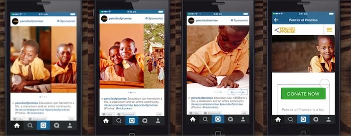 publicité séquentielle instagram