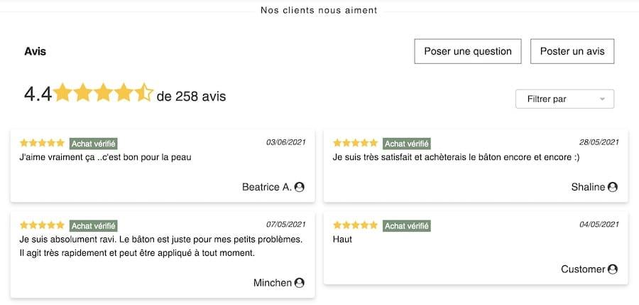 Opinew, plugin Shopify pour collecter les avis clients